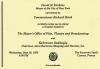 Invitation to New York City MOFTB gala reception aboard the Savarona Yacht, Cannes Film Festival, May 19, 1993.