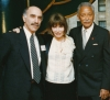 Richard Brick, Lee Grant and Mayor David N. Dinkins at Academy Awards luncheon, the Russian Tea Room, March 23, 1993.
