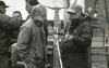 Woody Allen and Richard Brick in Central Park for <em>Deconstructing Harry</em>, New York, 1996.