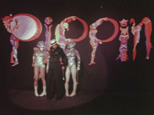 "TV commercial 1 for Bob Fosse's Broadway musical ""Pippin,"" New York, 1975."